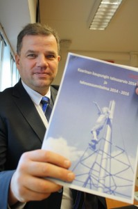 Kaupunginjohtaja Harri Virta oli tiistaina mukana esittelemässä Kaarinan uutta talousarviota.