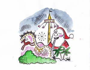 Harjoitetaanko Joulusaarella (Christmas Island) laajamittaista jouluturismia?