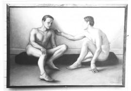 Tätä Kaj Stenvallin maalausta ei ole usein näkynyt julkisuudessa. Stenvall asui Sauvossa parikymmentä vuotta ennen 2000-lukua.