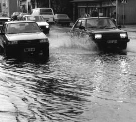 Vistalla tulvi vuonna 1988.