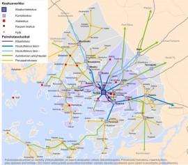 Turun seudun joukkoliikenteen palvelutasoluokkia on 6, joista tähän kuvaan on merkitty 5 alinta (II–VI). Paimion joukkoliikenteelle tasot III–VI nähtiin riittäviksi. Näitä luokitteluita muotoiltiin seudullisesti vuosina 2010-2011.