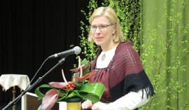 Marjo Matikainen-Kallström piti letkeän juhlapuheen.