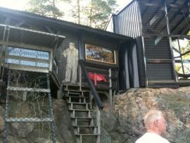 Kauko Allenin talo sijaitsi Piikkiön Haukkavuorella.