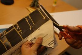 Piirrä Kunnallislehden etusivulle vaikka piparimuotin avulla sydän. Leikkaa kaikista sivuista samalla kertaa kasa paperisydämiä.