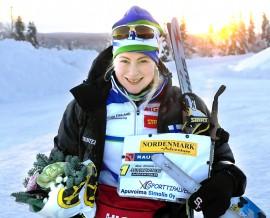Milka Reponen voitti kultaa hiihtosuunnistuksessa.