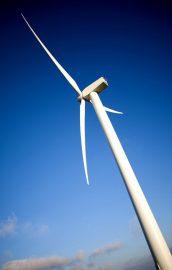 windmill over a blue sky