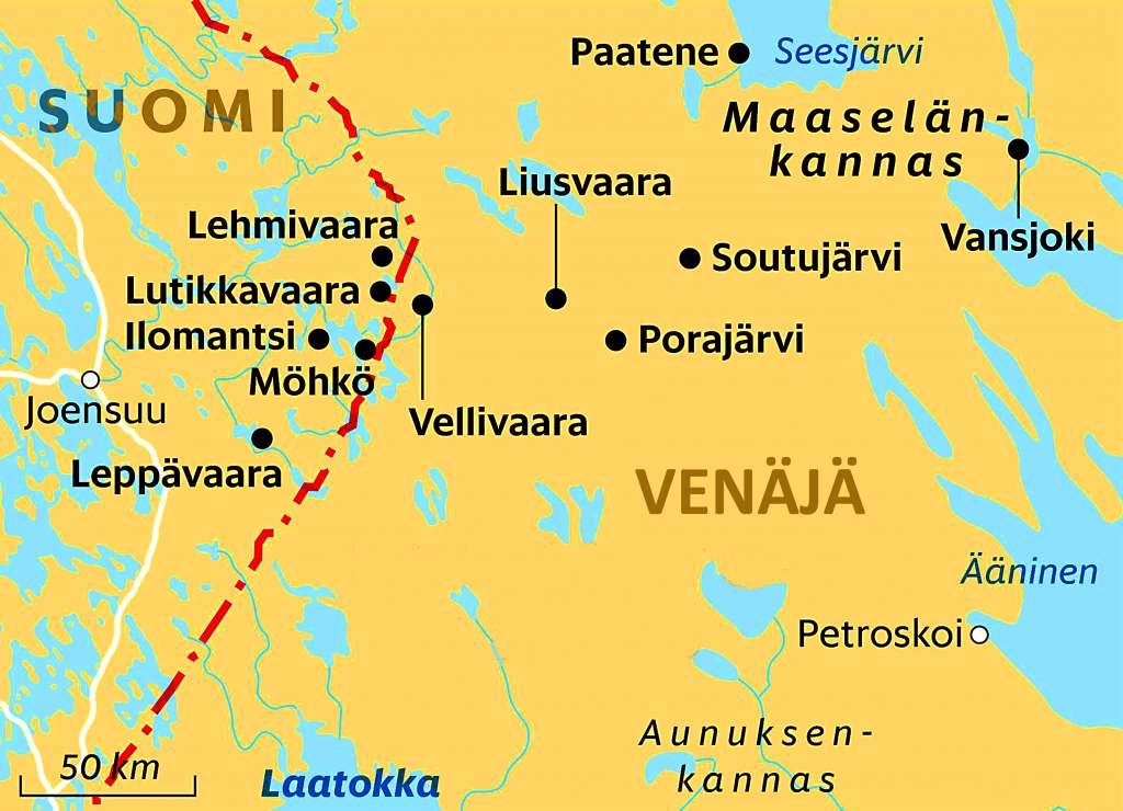Pohjois Karjalan Ja Venajan Maaselan Kannaksen Seudut